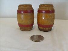 "Wooden Kegs Salt & Pepper Shakers, Cork stoppers, Primitive decor 2 3/8"" tall"