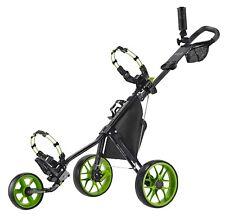 New CaddyTek Deluxe 3 Wheel Golf Push Cart Version 3, CaddyLite 11.5 V3 - Green