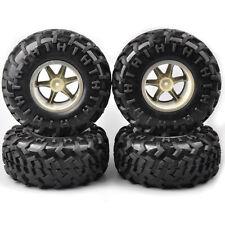 4Pcs 1:10 Bigfoot Wheel&Tire Rim 12mm Hex For Rc Monster Truck Crawler Model Car