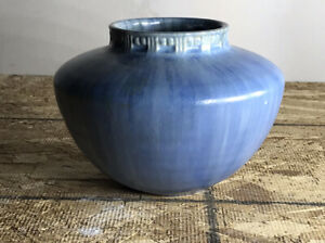 Small Roseville Tourmaline Blue Bowl Unmarked