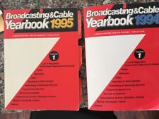 Broadcasting & Cable Yearbook Lot 2 Books 1994 1995 R.R. Bowker Publication Used
