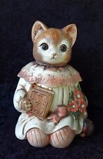 VINTAGE CAT COOKIE JAR Emily Made by Takahashi Sold By Mervyns Dept Store Nice!