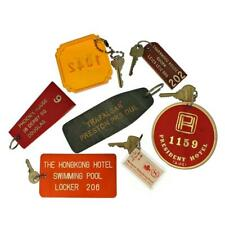More details for vintage keys with hotel tags collection lot hotel key rings hong kong taipei uk