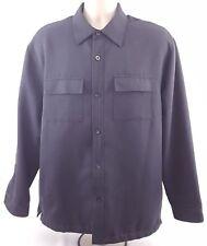 cubavera men's large light jacket button front rayon polyester long sleeve
