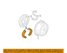 GM OEM Brake-Rear Brake Shoes 19256493