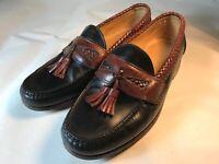 Allen Edmonds Men's Sz 8.5 EEE Black and Brown Leather Maxfield Tassel Loafers
