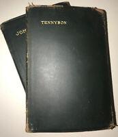 LORD TENNYSON AND JOHN MILTON! Full Limp LEATHER ANTIQUARIAN Bindings! 1926 old
