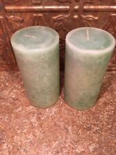 "Southern Living At Home ""ICE"" Cool Comfort 3"" X 6"" Aquatic Blue Pillar Candles"