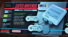 SNES Super Nintedo Console System - PAL Version - in Original Box with game