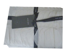 West Elm Applique Ruffle Stripe Full/Queen Duvet Cover - Stone White