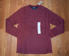 NWT Mens LEVIS Heathered Red Thermal Long Sleeve Winter Shirt Size S Small