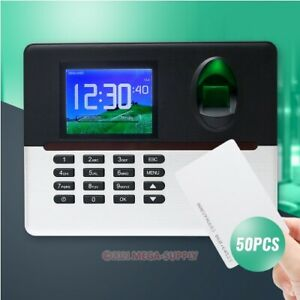 Fingerprint And 50pcs RFID Cards Attendance Time Clock+TCP/IP+WIFI+Remote Access