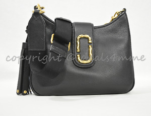 MARC By Marc Jacobs M0011063 Leather Interlock Small Hobo / Shoulder Bag-Black