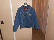 Vintage Harley Davidson Panhead Distressed Denim Convertible Jacket/Vest L Mint