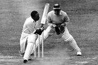 West Indies' Learie Constantine Batting 1933 OLD CRICKET PHOTO
