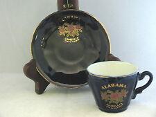 Tea Cup & Saucer Set  Alabama State Flower  Camelia  Japan mark  Dk Blue  CS15