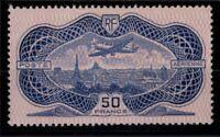 S138460/ FRANCE – AIRMAIL ''BURELE'' / Y&T # 15 MH CERTIFICATE CV 937 $