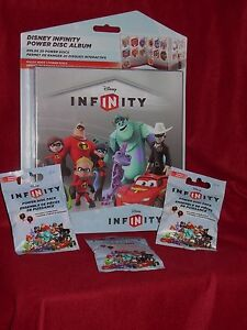 Disney Infinity Power Disc Series 1 Album Holds 20 With 3 Series 1 Packs NEW!