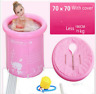High Quality Portable Inflatable Bathtub Bath HotTub Bathroom Pink Outdoor Adult
