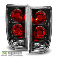 Black 1995-2005 Chevy Blazer GMC Jimmy S10 Tail Lights Brake Lamps Aftermarket