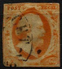 NETHERLANDS, KING WILLIAM III, YEAR 1852, WITH WATERMARK, USED, (SU066)