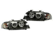 DEPO 1996-1998 Audi A4 B5 Euro Black Housing Angel Eyes Headlights+Clear Corners