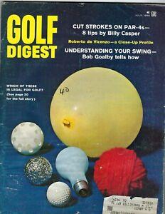 1968 JULY Golf Digest magazine Billy Casper Roberto de Vicenzo Bob Goalby FrWrit