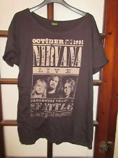 T-shirt NIRVANA live 31 October 1991 rétro vintage L