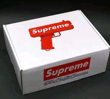 Brand New Supreme SS17 Red Box Logo Cash Cannon Money Gun . Let it rain USA NEW