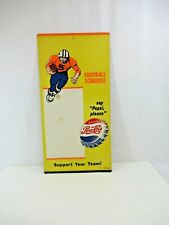 Pepsi Football Schedule Cardboard Sign VTG Support Your Team Please RARE 1950s