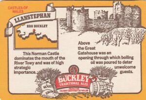 UNUSED BEERMAT- BUCKLEYS BREWERY - LLANSTEPHAN - (Cat 048) - (1983)