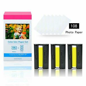 """Compatible for Canon KP/RP-108in 4 X 6"""" Ink and Paper Set for SELPHY CP1300 4*6"""