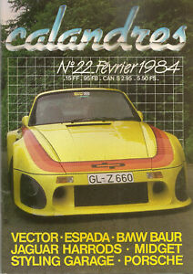 CALANDRES 22 1984 VECTOR W2 LAMBORGHINI ESPADA TRACTION CABRIOLET JA XJ6 HARRODS