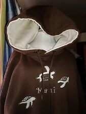 Men Hoodie New Kenpo Maui Embroidery Brown & Beige Medium Sweatshirt 3