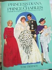 Paper Dolls by Tom Tierney Princess Diana and Prince Charles Vintage