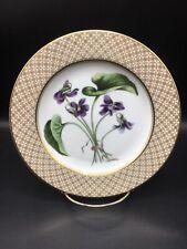 Fitz And Floyd Purple Flours de Printemps 8 Inch Porcelain Floral Plate ~