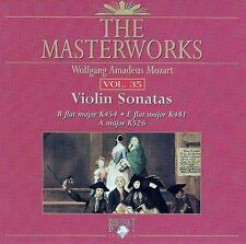 The Masterworks Vol. 35-Wolfgang Amadues Mozart Violin Sonatas K454,K481,K526 CD