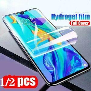 1-2PCS Full Cover Hydrogel Film For Huawei P20 P30 Pro Mate 10 20 30 P40 Nova 5T