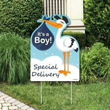Big Dot of Happiness Boy Special Delivery - Baby Shower Decorations - Blue.