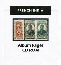French India Stamp Album 1892-1954 Color Illustrated Album Pages