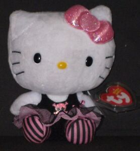 TY HELLO KITTY PUNK BEANIE BABY - MINT with MINT TAGS