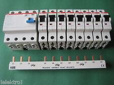 8x ABB S201 B16 +1 FI Schutzschalter F204A-40/0,03 + Phasenschiene PS3/12FI SET