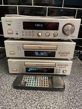 DENON DCD F100 COMPONENT SYSTEM CD AMP TUNER, TAPE DECK, REMOTE