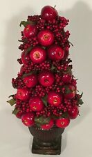 """18"""" Decorative Tree Made of Apples & Berries in Chalice-like Pot Light Weight"""