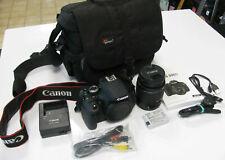Canon EOS 600D Digitalkamera - Schwarz mit EF-S 18-55mm III Objektiv