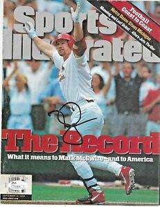 Mark McGwire Autographed Sports Illustrated Magazine Cover JSA Certified