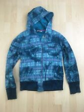 Roxy Kids Girls Youth Jacket/Coat Size Large Teal Blue Button Front Hooded