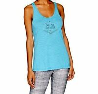 Puma Womens Essential Dri Release Athletic Tank Top Large Blue