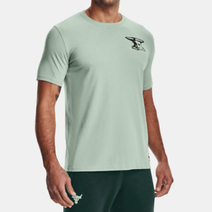 Under Armour Men's UA  Project Rock Wrecking Crew Short Sleeve. Fisher Green