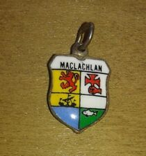 MacLachlan Mac Lachlan Coat of Arms / Family Crest Silver Plated Enamel Charm